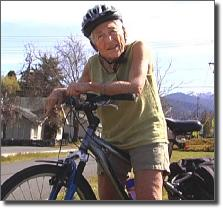 Dot on bike